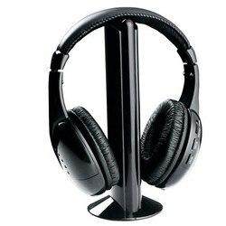 Новая высокоточная беспроводная гарнитура 5 в 1 с креплением на голову подходит для ПК, ноутбука, телевизора, FM-радио, MP3 гарнитуры, гарнитуры