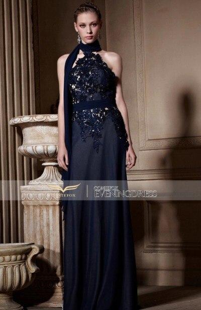 Free Shipping Sexy Backless Vestido De Renda Robe De Soiree 2016 New Fashionable Highneck Long Dress Party Evening Elegant Dress