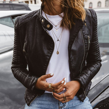 Cute Leather Biker Jacket 1