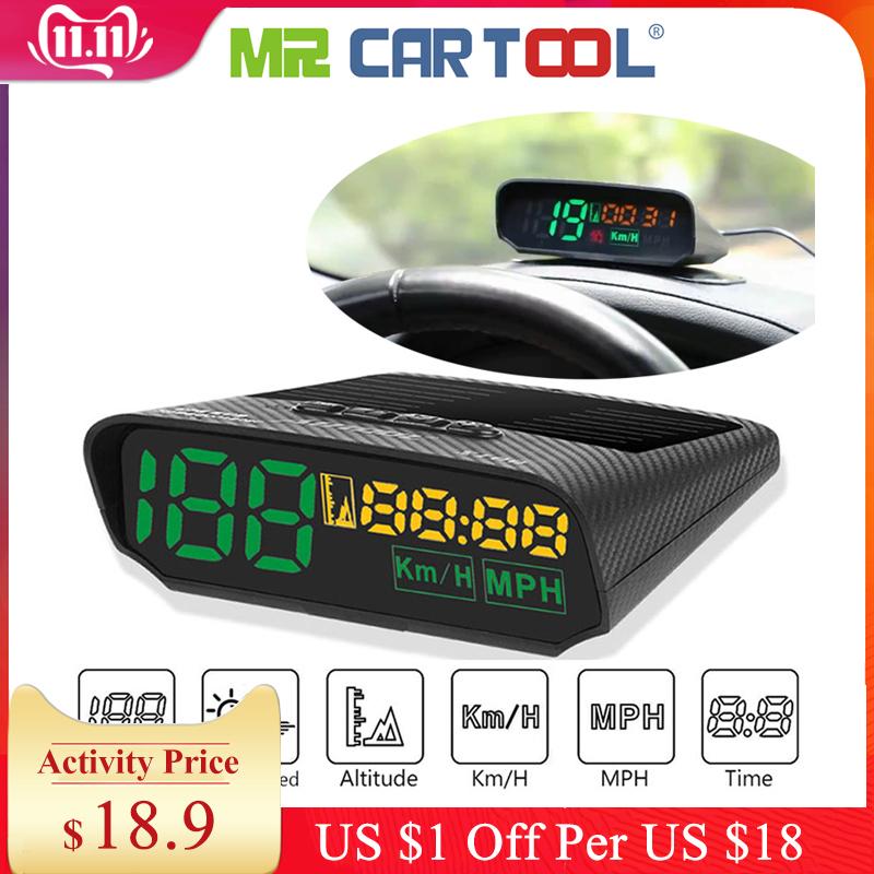 Hud Obd2 Head Up Display Car GPS Speedometer on-board Computer 5V/12V OBD II USB MPH KM Alarm Consumption Data Diagnostic