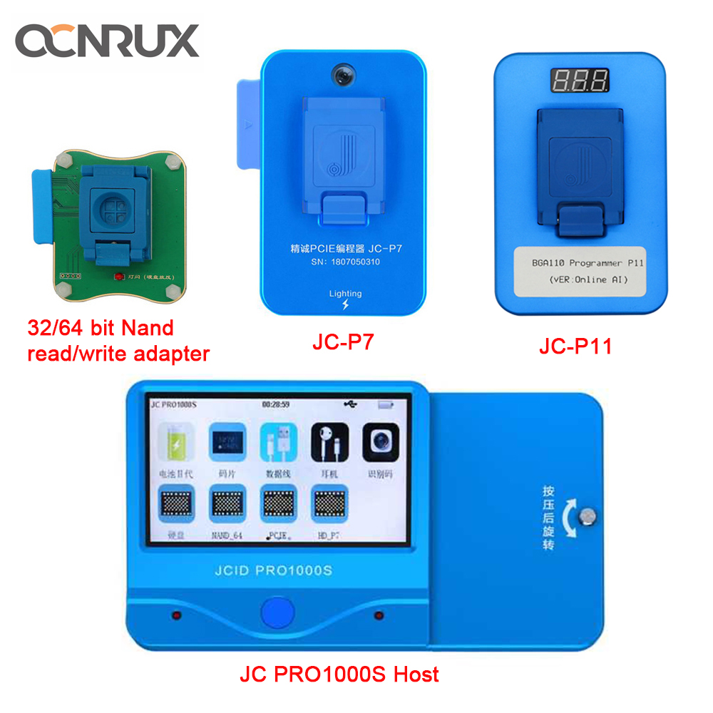 <font><b>JC</b></font> Pro1000S P7 P11 <font><b>NAND</b></font> Programmer HDD Serial Read Write Error Repair Tool for iPhone 11 XR XS Max 8 X 7 7P 6 6S All iPad image