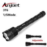 Anjoet 6000LM Powerful LED Flashlight 18650 3*Cree XML T6 Self defense Military Tactical Torch Light Camping Hunt lamp