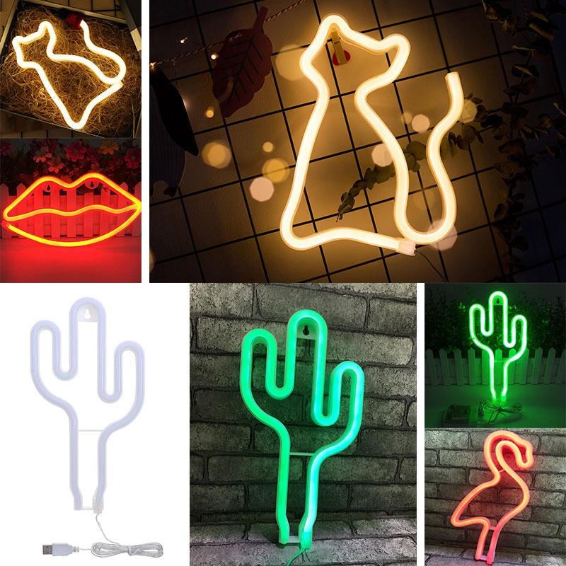 Durable Neon Lights IP42 Club Acrylic Beautiful Modeling Light Night Lamp Energy Saving LED Light Party Bar Yard 2W Bedroom