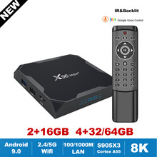 X96MAX Plus Android 9.0 TV Box 8K HDR Amlogic S905X3 Google Voice Remote 2.4G/5G Wifi bt Mini TV Receiver X96 Set Top Box Vs HK1(China)