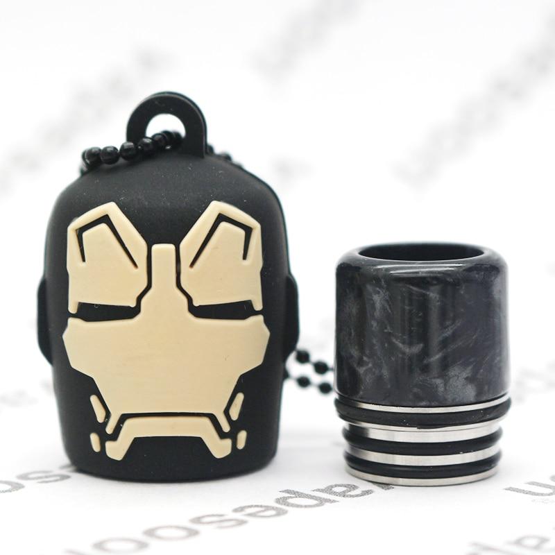 Newest Disgn E-Cigarette Mouthpiece 810 Drip Tip With Cover Mouthpiece  For Captain America Batman Spiderman Minions