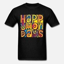 Szczęśliwe poniedziałki Indie taniec Madchester Rave Bez Ryder Retro T Shirt 33