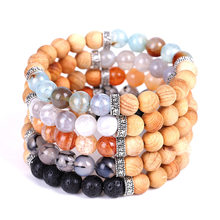 Aromatherapy Wooden Bead Essential Oil Bracelet Natural Ice Crack Meditation Stone Reiki Buddha Beads Lucky Bracelet Men Women(China)