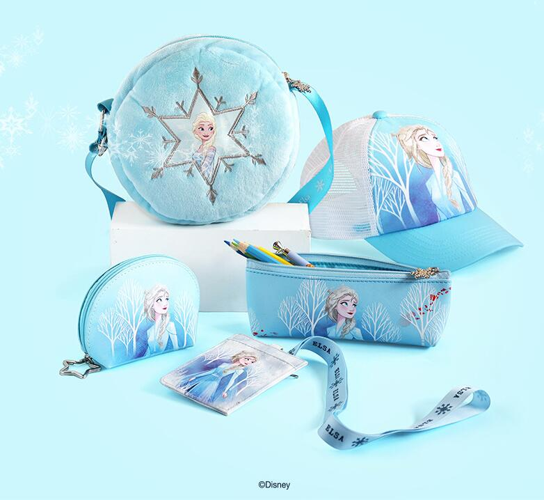High Quality Genuine Disney Frozen Cap Hat Anime Doll Plush Round Bag Handbag Pencil-box Kids Girl Children Toy Birthday Gift