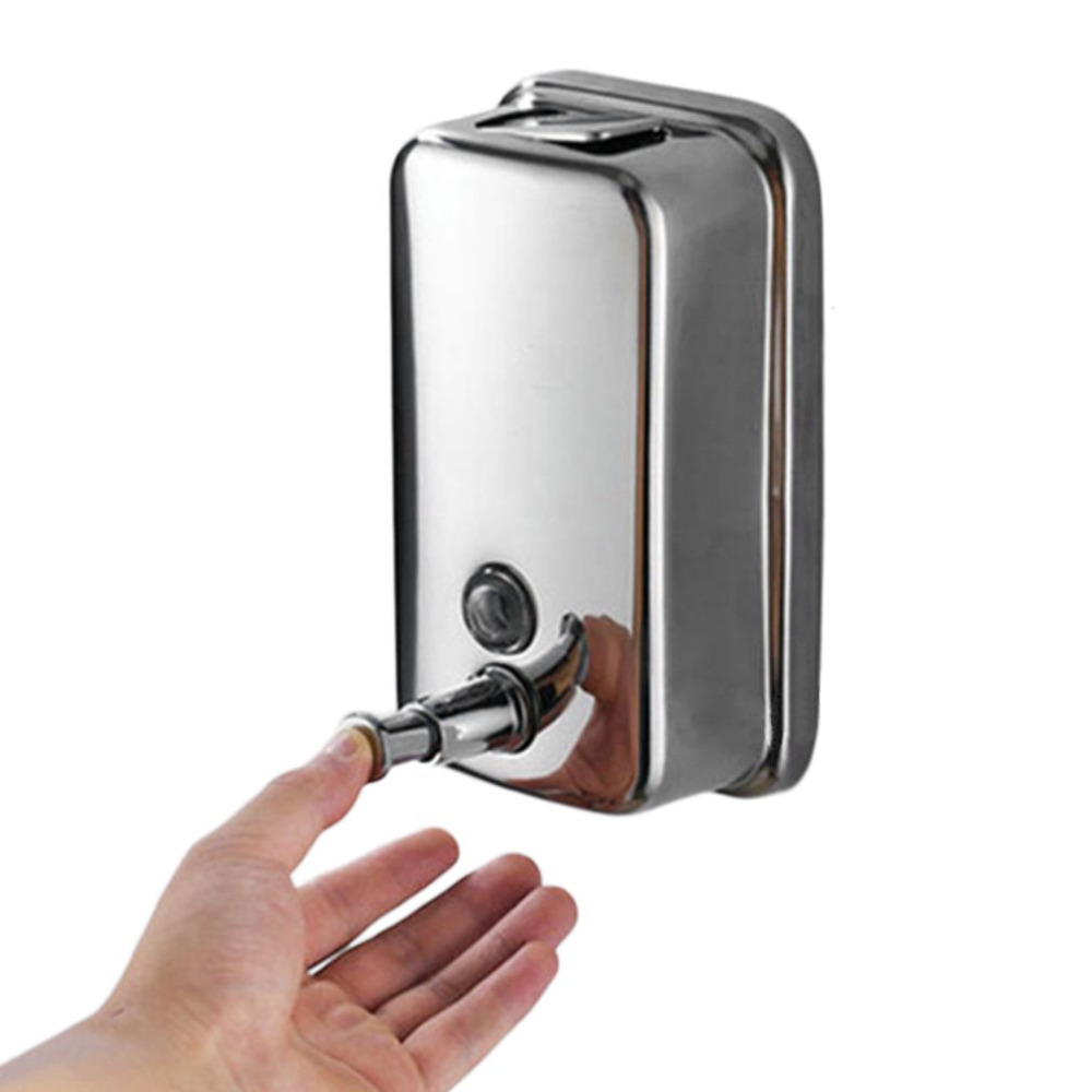 500/800/1000ML Bathroom Wall Mounted Stainless Steel Liquid Soap Dispenser Hand Shampoo Pump  Shower Lotion Dispenser