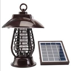 Słoneczne urządzenie przeciw komarom światło 24 LED Lights latarnia łapka na owady UVA z wodoodporna czapka LB88 w Lampy na komary od Lampy i oświetlenie na
