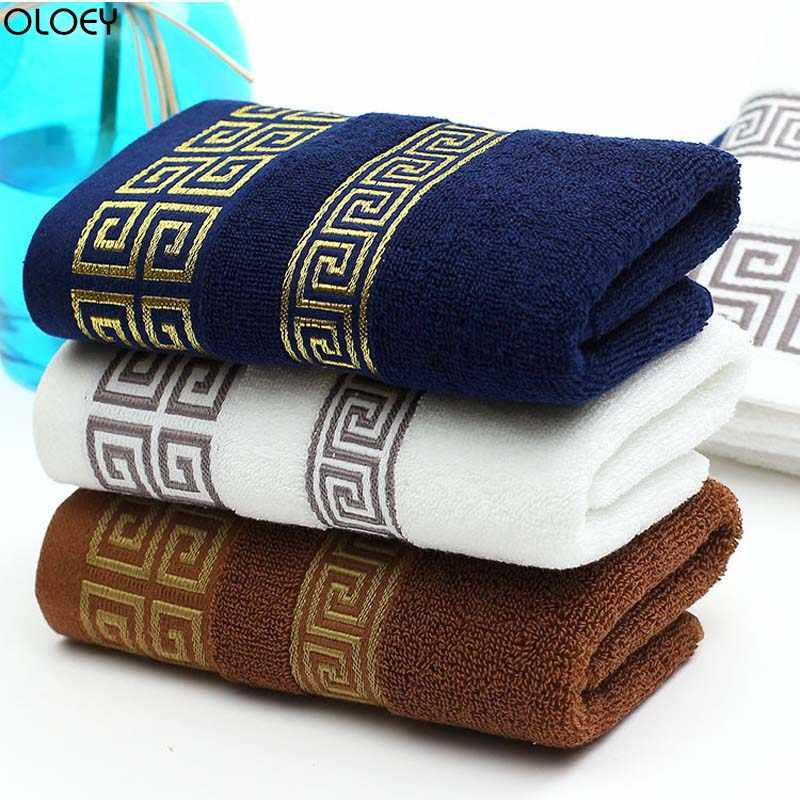 OLOEY 1PC Soft Cotton Bath Towels Beach Towel for Adults Absorbent Terry Luxury Hand Face Sheet Adult Men Women Basic Towels