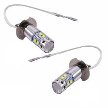 2pcs H3 50W CREE Chip LED Fog Light 6000K H3 50W White Car Driving  Bulb Auto Running Light