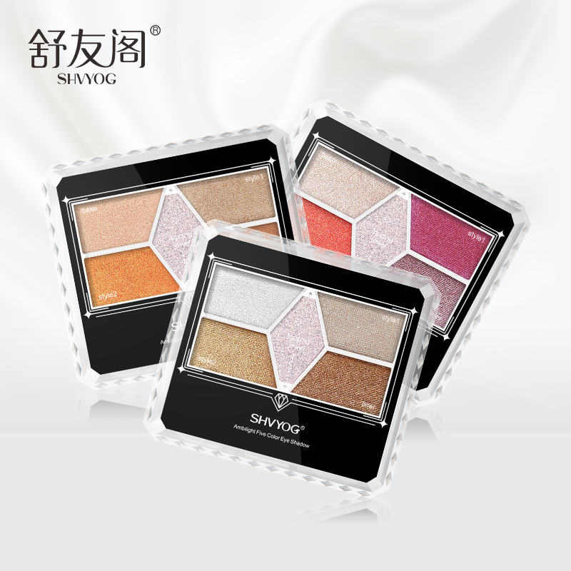 SHVYOG 5 Color Matte Eye Shadow Pallete Shimmer Long Lasting Waterproof EyeShadow Natural Makeup Pallete Cosmetics