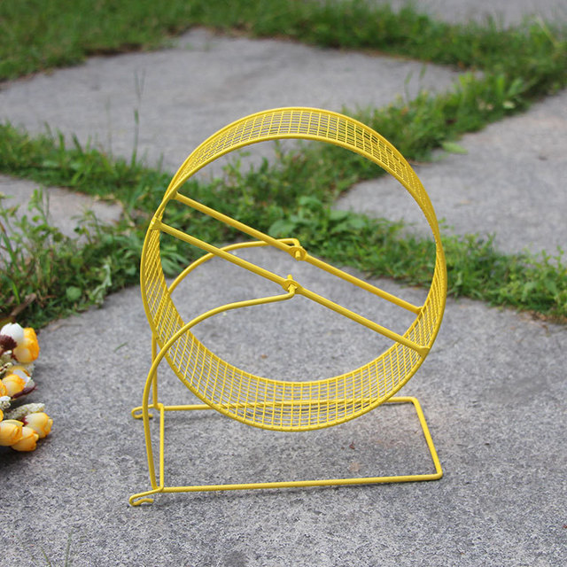 Little Hamster Pet Cage Hamster Small Pet Toy Running Wheel Anti-bite Safety Iron Running Wheel Rugged Durable Pet Supplies 2