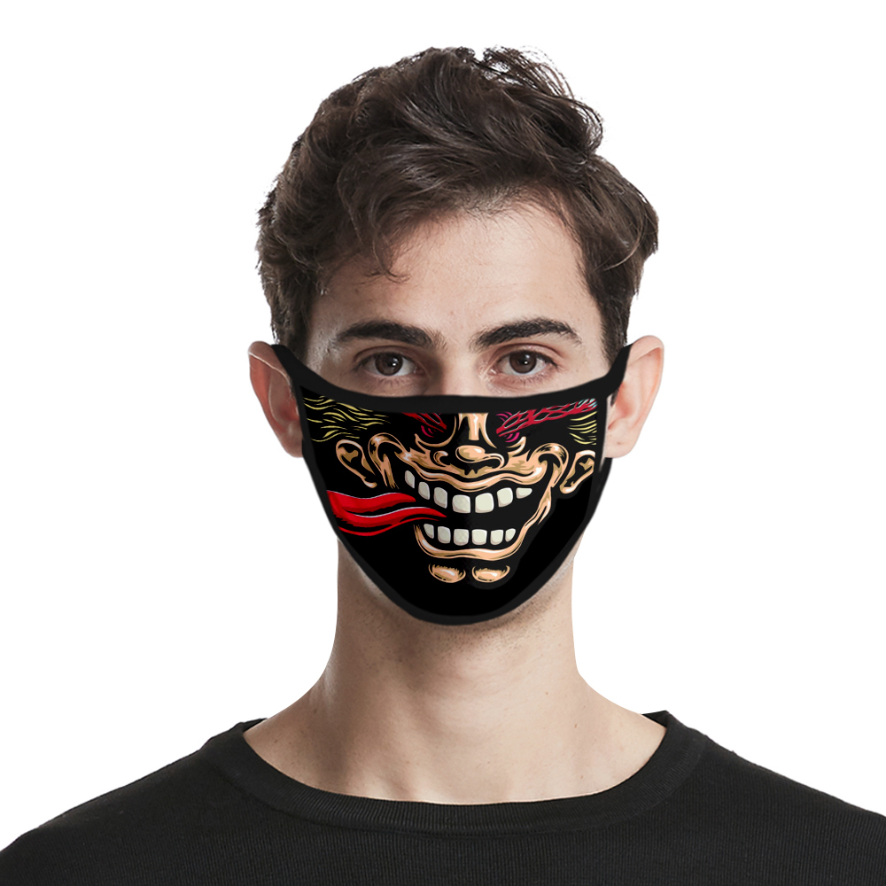 Haha JOKER 3D Custom Printed Facemask Bandana Elastic Women/Men Versatility Caps Good Quality Scarf Trendy Scarves One Size