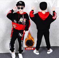 2019 Winter Kids Warm Clothes Boys 3 4 6 8 9 10 11 12 14 Years Boys Clothing Set Sports Suits Boys Fleece Sweatshirts And Pants