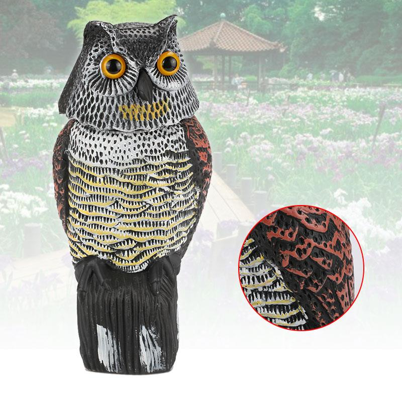 Hunting Decoy Swing Outdoors Realistic Owl Decoy Repellent Bird PE Decor Tree Pest Garden Crops From Scarecrow Yard|Garden Statues & Sculptures| |  - title=