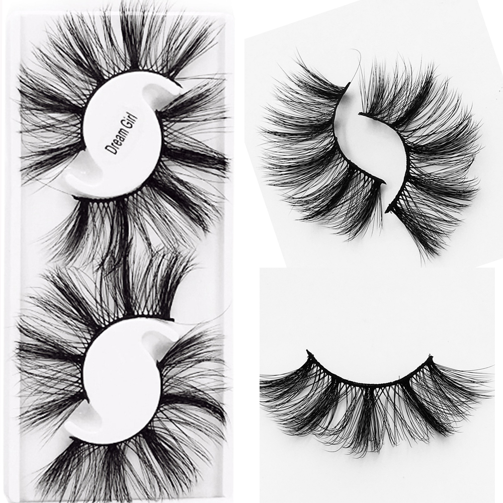 2Pairs Natural False Eyelashes 3D Handmade Fake Lashes Eye Makeup Wispy Faux Mink Eyelashes Extension Volume Soft Mink Lashes