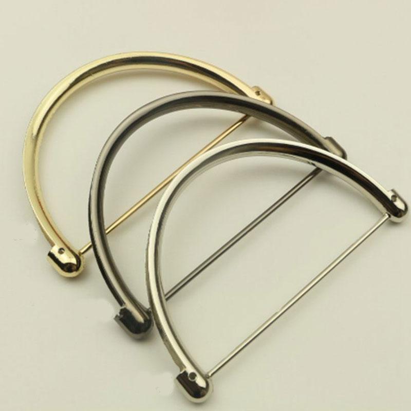 2PCS Women Coin Metal Purse Frame Making Bag Handle Handbag Accessories Bags Hardware Handle Replacement For Purse Bag Handbag