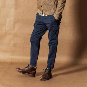 Image 3 - SIMWOOD 2020 אביב חדש מכנסיים מטען גברים Streetwear בציר אופנה היפ הופ קרסול אורך מכנסיים טקטי בתוספת גודל מכנסיים 190461