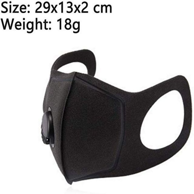 1pc Unisex Black Anti Dust Mask PM2.5 Breathing Filter Valve Face Mouth Masks Reusable Mouth Cover Haze Respirator 4