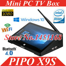 Pipo – Mini PC X9S, windows 10, boîtier Smart TV, lecteur multimédia pour Streaming, tablette 8.9 pouces, Intel Cherry Trail Z8350 Quad Core