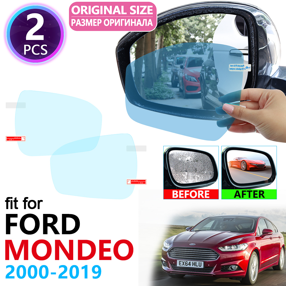 For Ford Mondeo Mk3 Mk4 Mk5 Fusion 2000~2019 Full Cover Rearview Mirror Rainproof Anti Fog Film Accessories 2004 2006 2014 2017