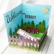 커팅 다이 Popout 카드 스크랩북 Cardmaking PaperCraft 서프라이즈 크리 에이 티브 다이 DIY 스텐실