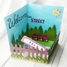 ตัดตาย Popout การ์ดสมุดภาพ Cardmaking PaperCraft Surprise Creation DIY stencil