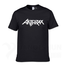 Rock Band ANTHRAX Printed Mens T Shirt New Heavy Metal Hip Hop Shirts Men Cotton Short Sleeve Tee Homme Camiseta Hombre
