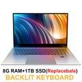 Ноутбук 15,6 дюймов 8 ГБ ОЗУ DDR4 1 ТБ HDD Intel Celeron J3455 1080P ips экран Windows 10 PRO полная раскладка клавиатуры цифровая клавиатура