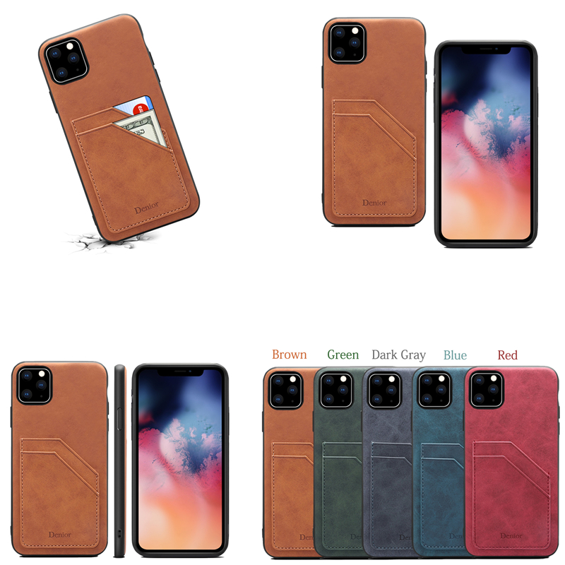 Double Card Leather Case for iPhone 11/11 Pro/11 Pro Max