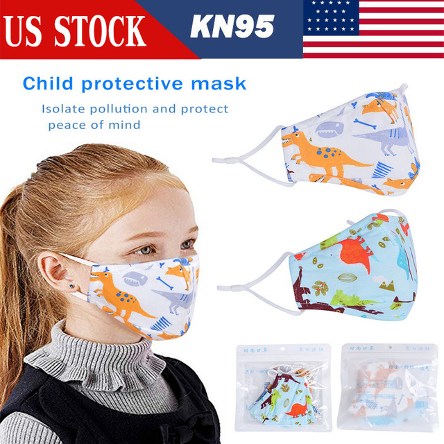 Kids Cotton PM2.5 Mouth Mask Anti Dust Mask Activated Carbon Filter Windproof Mouth-muffle Bacteria Proof Flu Face Masks Care