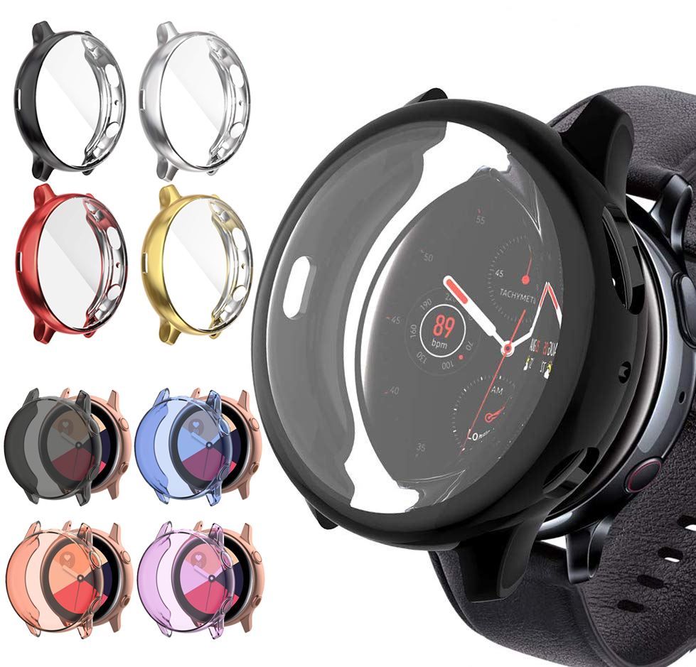 Full Screen Cover Protection Case For Samsung Galaxy Watch Active 2 TPU Ultra-thin Soft Silicone Shell Bumper Active 40mm 44mm