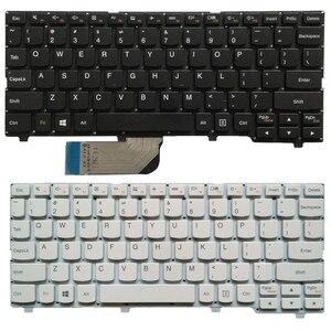 Image 1 - New US laptop keyboard For Lenovo ideapad 100S 100S 11IBY English keyboard black/white