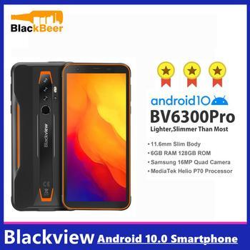 Купить Blackview BV6300 Pro 5,7-дюймовый Android 10 Мобильный Телефон IP68 прочный водонепроницаемый смартфон Helio P70 6 ГБ + 128 Гб Восьмиядерный телефон