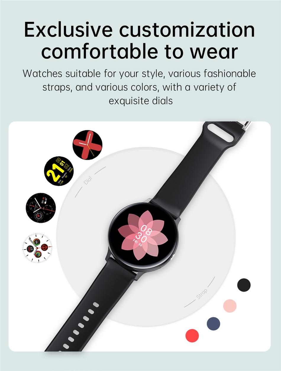 Hd797e5e100fd43969bae055e64cdd010g 2021 Bluetooth Call watch Smart watch For men And women Full touch fitness tracker Blood pressure Smart clock ladies Smart watch