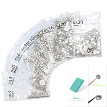 SS3-SS30 1440 Pieces Super Glitter Flatback Multicolor Non HotFix Rhinestones for Nail Art Decoration Shoes and Dance
