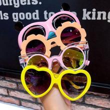 Sunglasses Baby Kawaii Protection Children's New-Fashion Love TJ-2562 Toy Bow Girls Cartoon