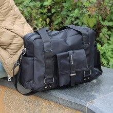 New arrival 2020 men casual shoulder bag nylon material handbag large capacity travel bag crossbody bags