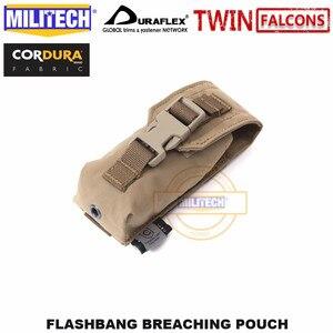 Image 3 - MILITECH Tactical Flashbang łamanie etui TWINFALCONS TW złuszczona 500D Cordura wykonana torba na akcesoria Flash dym bomba etui