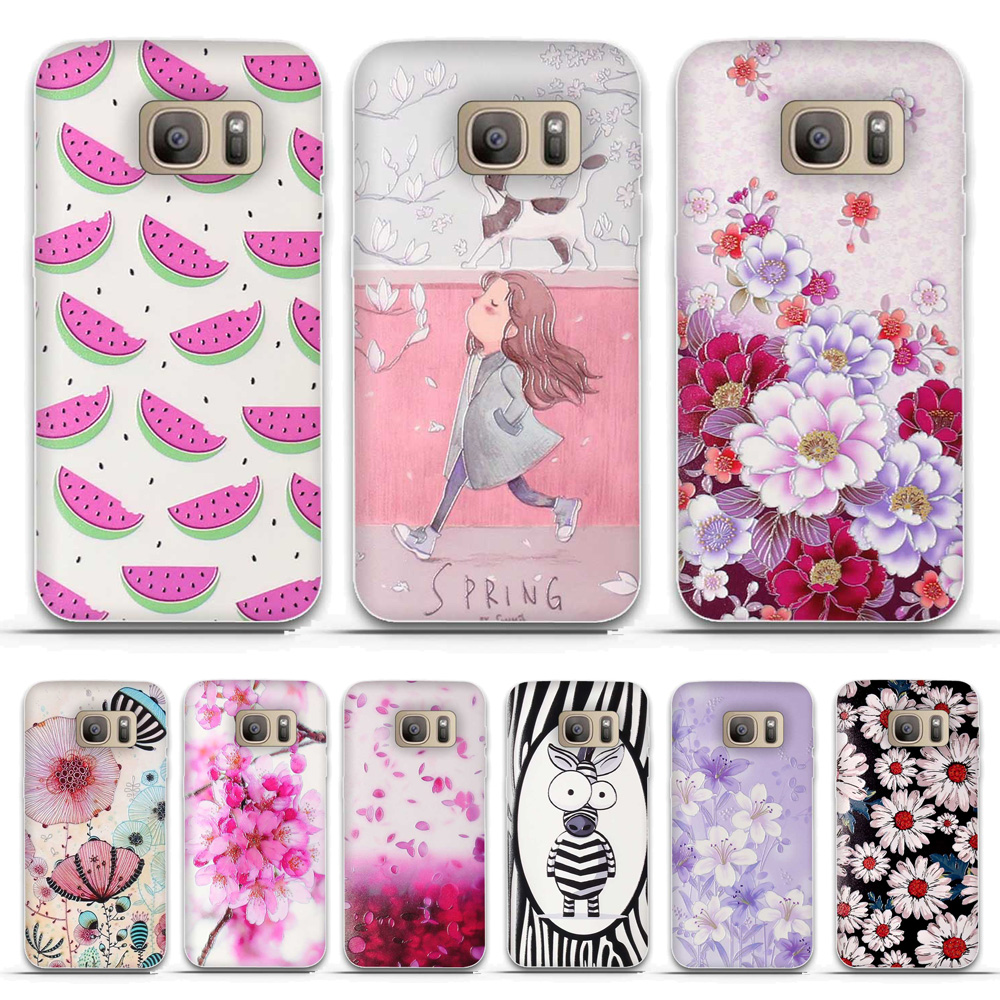 Cover For <font><b>Samsung</b></font> Galaxy S5 S6 <font><b>S7</b></font> <font><b>Case</b></font> Soft Silicone TPU Cartoon Patterned Shell For <font><b>Samsung</b></font> Galaxy S6 <font><b>Edge</b></font> <font><b>S7</b></font> <font><b>Edge</b></font> <font><b>Case</b></font> Funda image