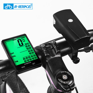 Image 5 - INBIKE 2.8 inch Bicycle Computer Wireless Bike Computer Light Headlight Set Rainproof Speedometer Odometer Cycling Stopwatch
