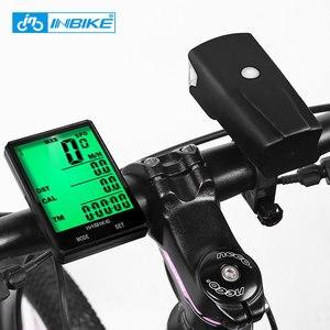 Image 5 - INBIKE 2,8 zoll Fahrrad Computer Drahtlose Fahrrad Computer Licht Scheinwerfer Set Regendicht Lcd computer geschwindigkeitsmesser grüne Radfahren Stoppuhr