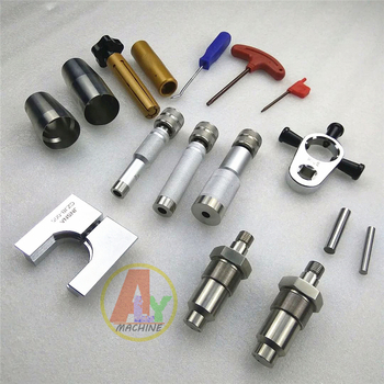 CAT C7C9 HEUI common rail injector disassemble clamp injection pressure test AHE trave measuring tool set