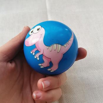 4 sztuk 6 3cm Baby Cartoon dinozaur zwierzęta wycisnąć Anti piłki stresowe PU kulki piankowe piłki stresowe piłki zabawki dla dzieci dzieci tanie i dobre opinie SONGYI BL127 3 lat Unisex Piłeczka antystresowa Sport Z pianki