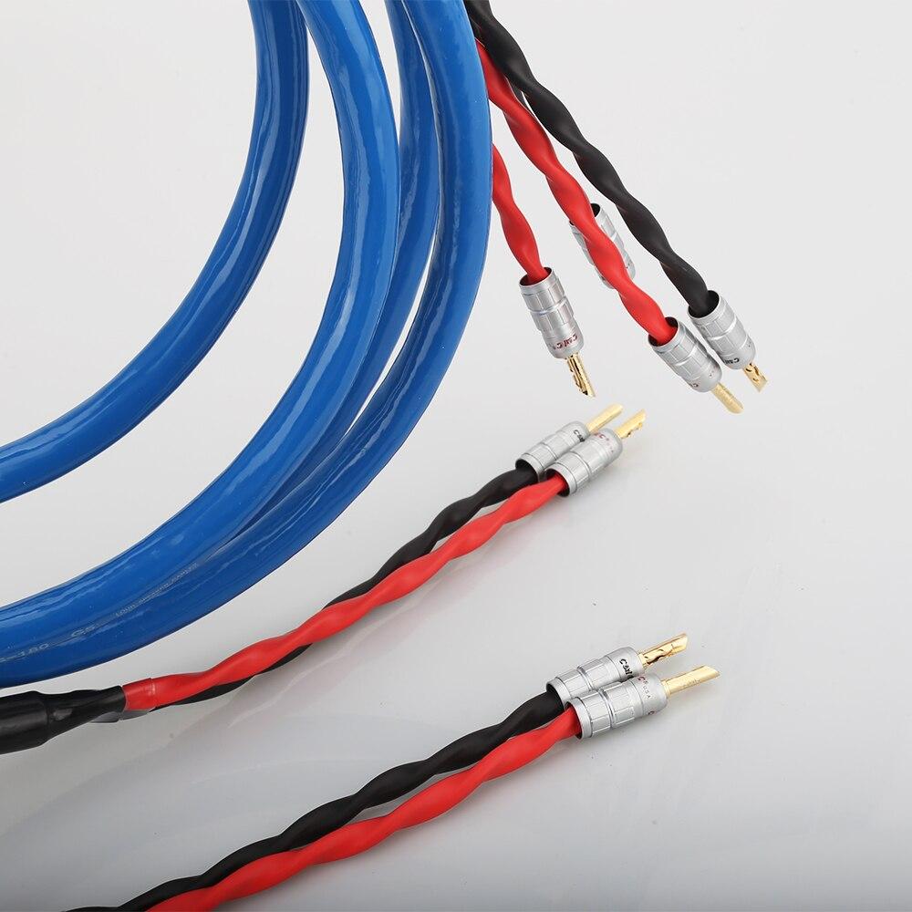 Cable de altavoz chapado en plata y cobre LS-180 con conector Banana chapado en oro CMC cable de altavoz hifi - 5