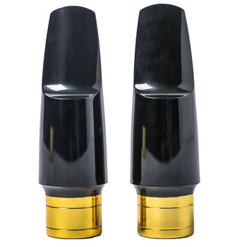 BATESMUSIC saksofon altowy ustnik metalowy z ustnikami 5C 6C akcesoria do saksofonu tanie i dobre opinie Spada dostroić b (c) Bakelitu Mosiądz Złocenia