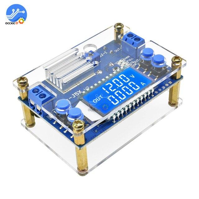 5A 75W moduł ładowarki CC CV DC 6.5 36V do 1.2 32V 5A 75W napięcie zasilania przetwornica ładowania akumulatora wyświetlacz LCD z etui