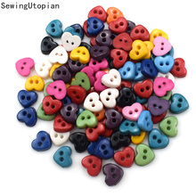 100PCS 6mm 2 Hole Cartoon Resin Buttons for Baby Kids Clothes Sewing Buttons Scrapbooking Garment DIY Apparel Accessories